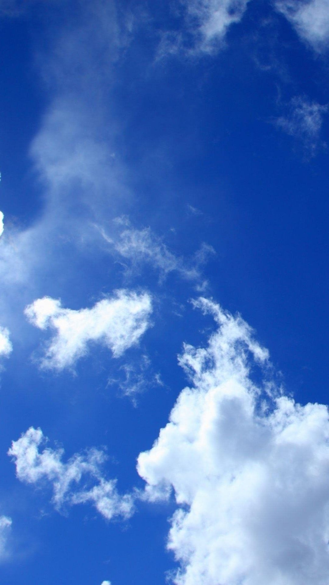 Blue Sky White Clouds Lockscreen Mobile Wallpaper Hd Blue Sky Wallpaper Cloud Wallpaper Iphone Wallpaper Sky