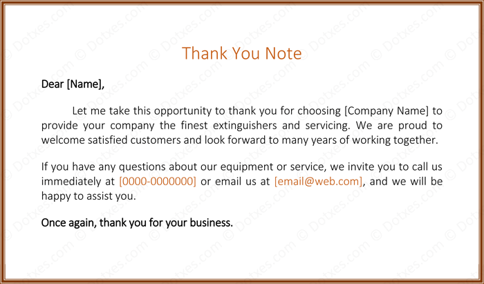 letters to customer