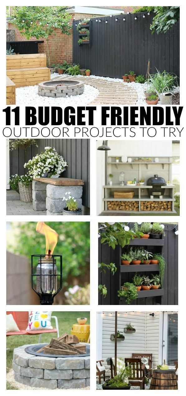 11 Awesome Budget Friendly Outdoor Projects to Try Now #projectstotry