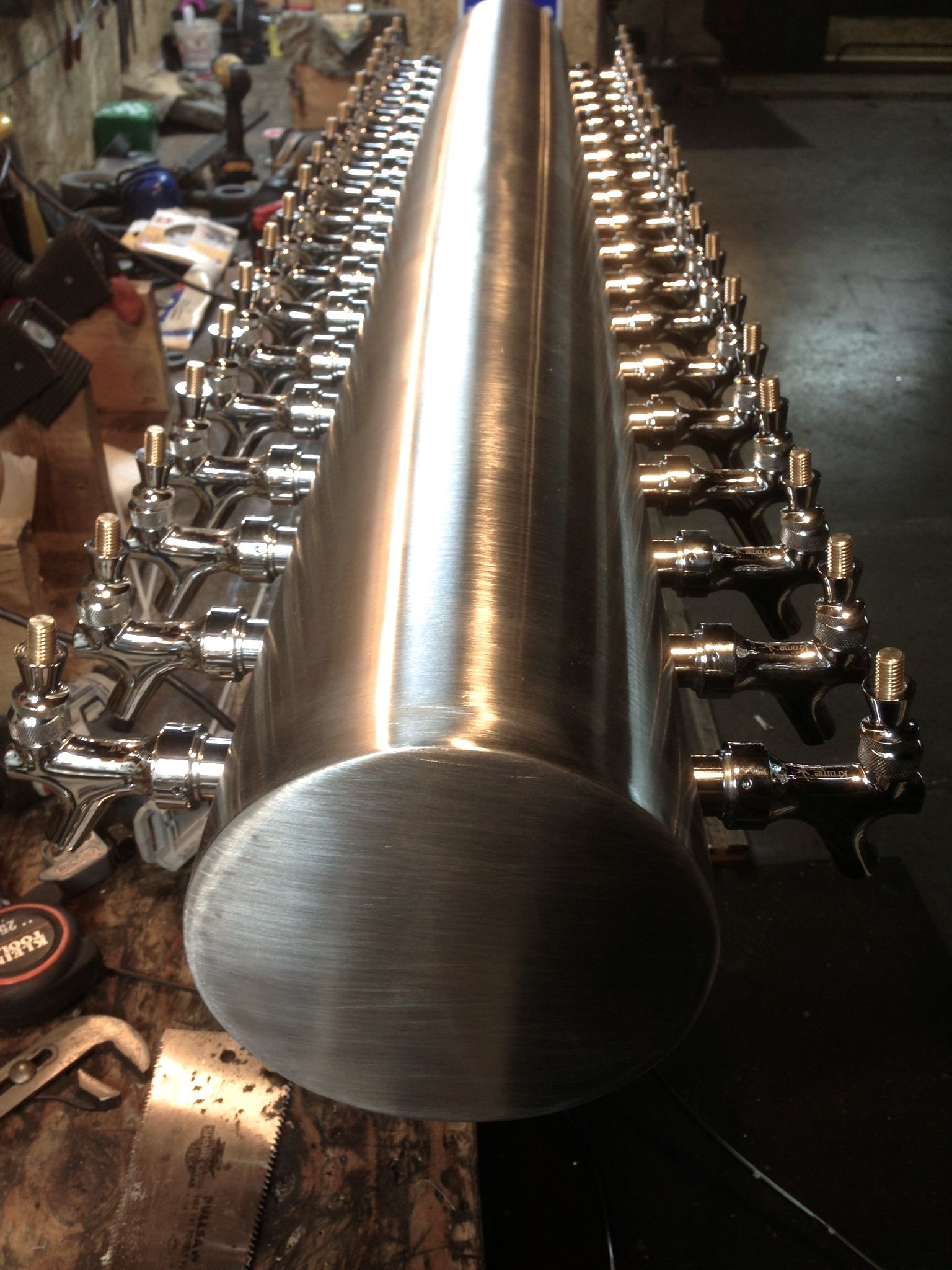 Double Sided Stainless Steel Custom Draft Tower Www Tappedbeer Com