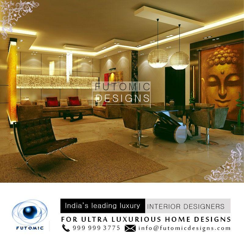 Living Room That Emanates Style And Splendor For All Your Designing Requireme Interior Designers In Delhi Luxury Interior Restaurant Interior Design
