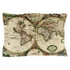 Vintage Map Pillow Case