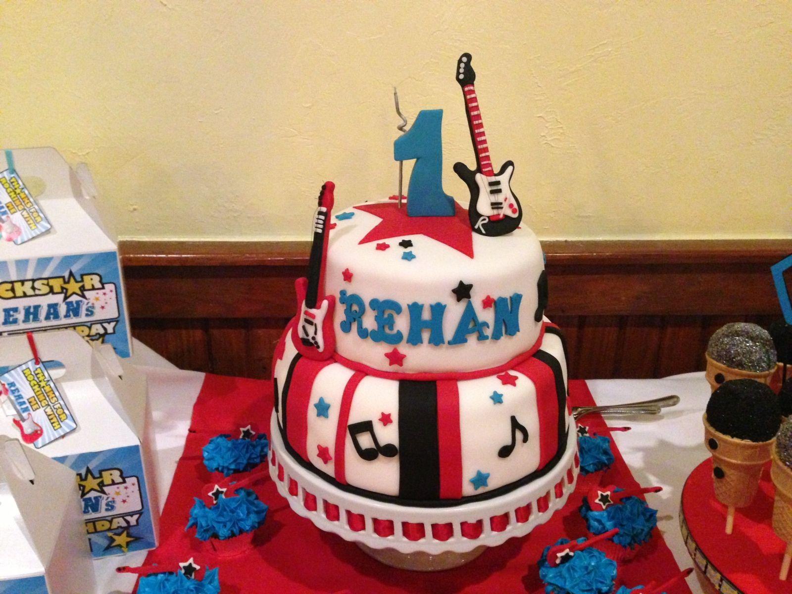 Rock N Roll and Super Cake for Rehans rockstar birthday boy www