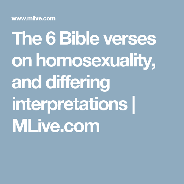 Bible verses about homosexuality new testament pics 100