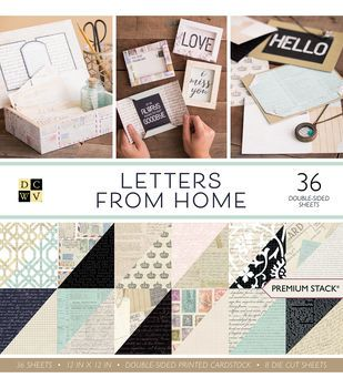 Dcwv 12 X12 Premium Printed Cardstock Stack Letters From Home