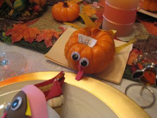 Creative Party Ideas by Cheryl: Thanksgiving Decoration Ideas...re-use mini Pumpkins!