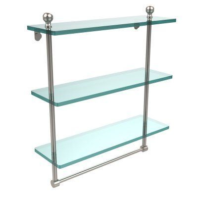 Allied Brass Mambo 16 in Triple Tiered Glass Shelf with Integrated