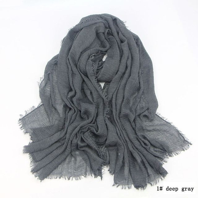 180x100cm cotton scarf men fringes muffler hijab women shawls wraps large pashmina men scarves #mensscarves