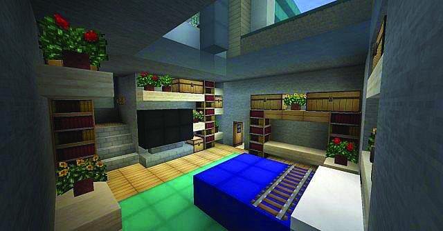 10 Minecraft Bedroom Designs! - Best Home Design Video |Minecraft Mansion Inside Bedroom