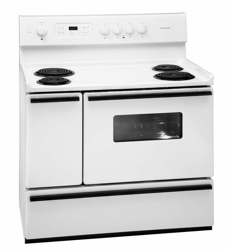New Frigidaire White 40 Freestanding 40 Inch Electric Electric Range Kitchen Range Frigidaire