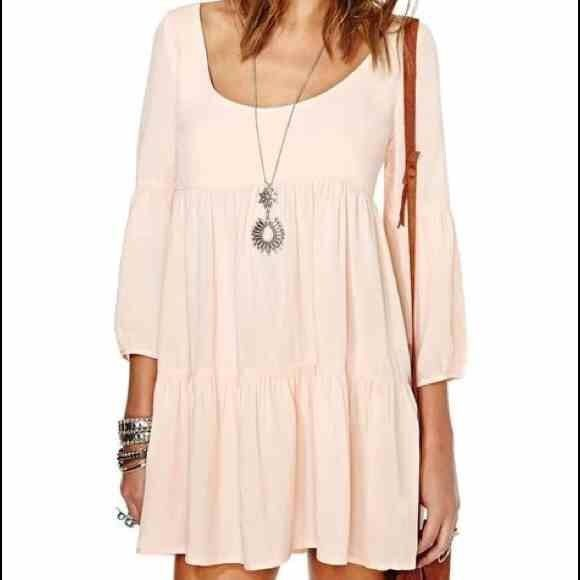 Nasty Gal Peach Festival Dress Perfect for the upcoming festivals! Criss cross back Nasty Gal Dresses Mini