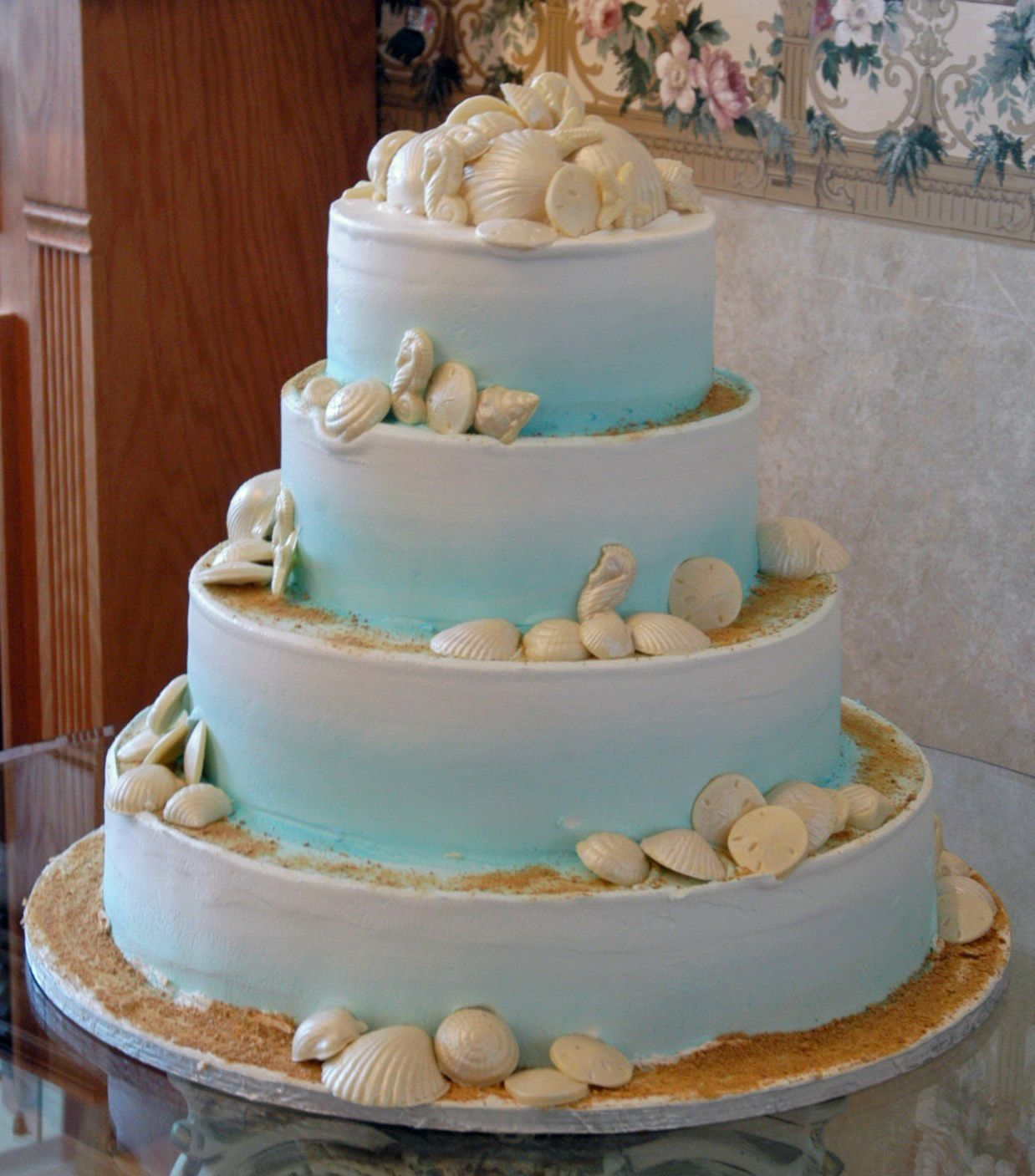 Alfa img Showing Sea Shell Wedding Cake