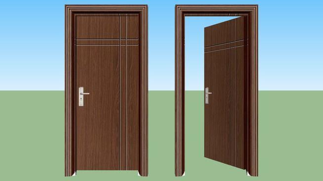 Large preview of 3D Model of Door Wood