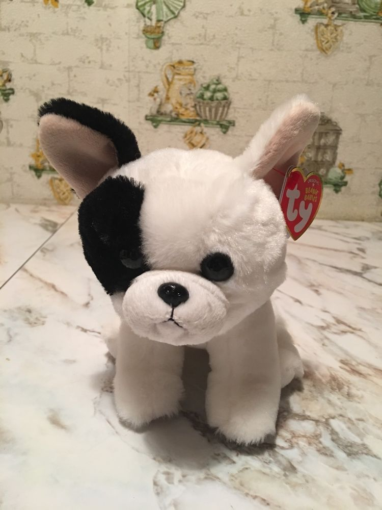c35cac54ce6 New 2017 Marcel The Plush Dog Beanie Baby 6 In MWMT  Ty