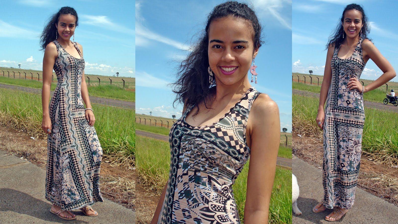 Vestidos simples com moldes