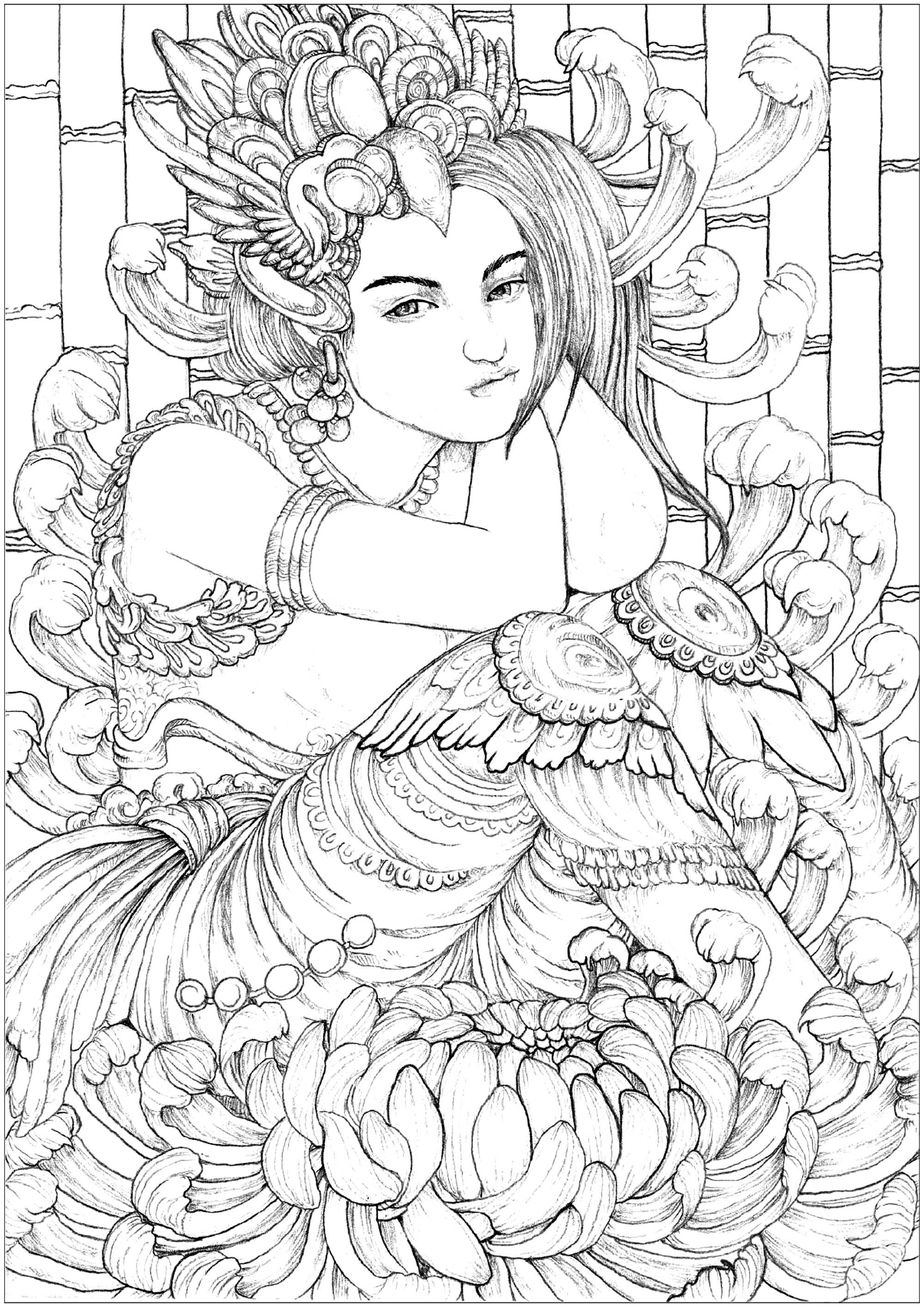 Hiwaga Woman Hiwaga Means Mystery In Tagalog Tagalog Is An Austronesian Language Spoken As A Puppy Coloring Pages Coloring Pages For Girls Coloring Pages