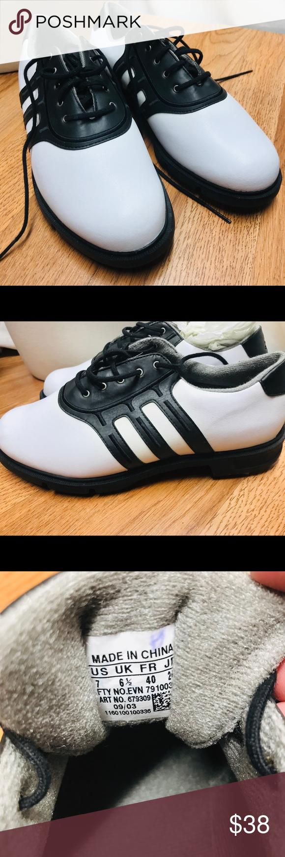 Men's new Adidas golf shoes white black size 7 Men's new Adidas ...