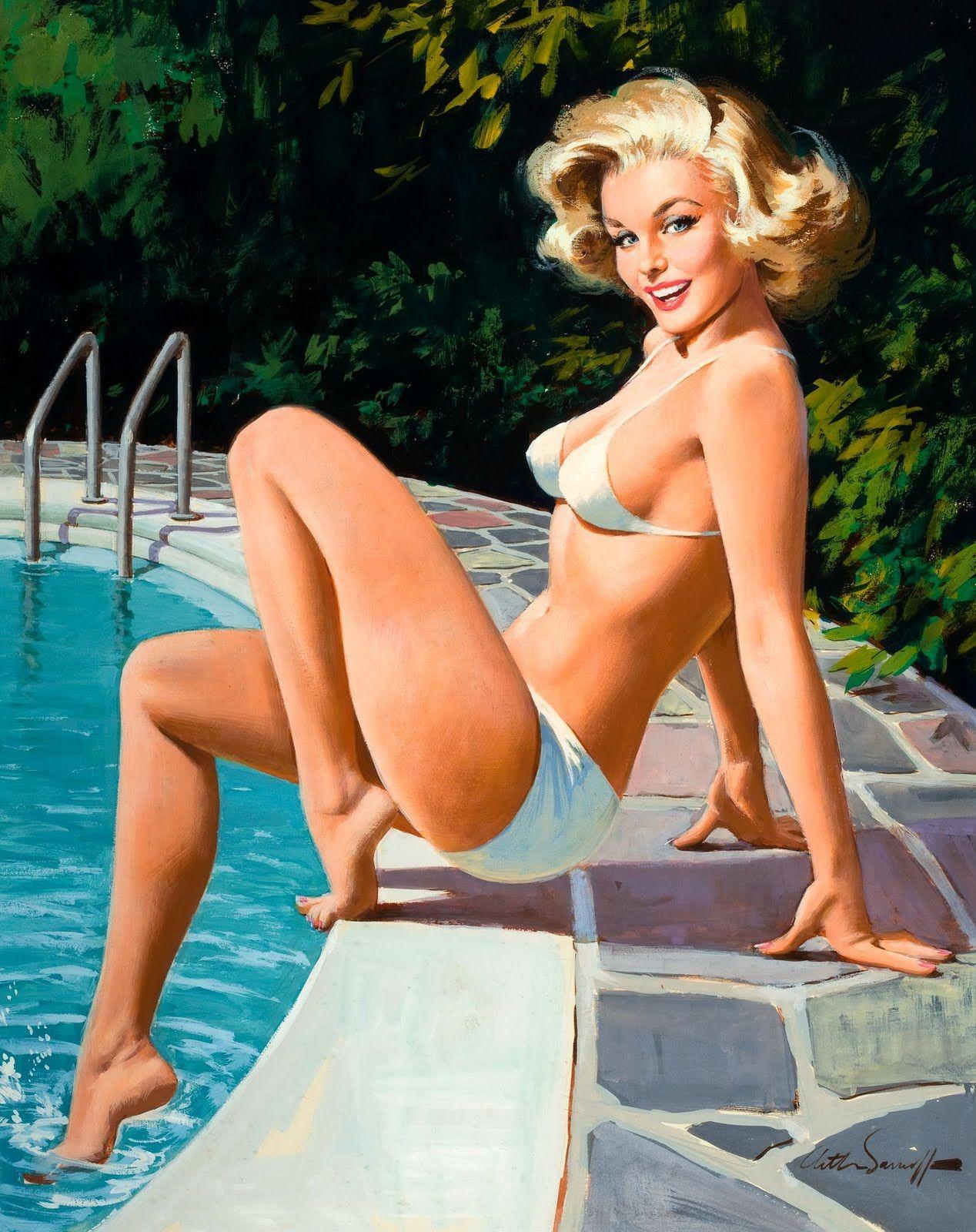 85ff14835 Arthur Saron Sarnoff ~ vintage pin-up girl by the swimming pool ...