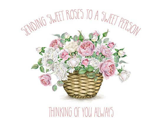 Sweet roses for a sweet person cards and greetings for every flower basket day is the perfect day to send this adorable card to someone you love free online sweet roses for a sweet person ecards on flower basket day publicscrutiny Image collections