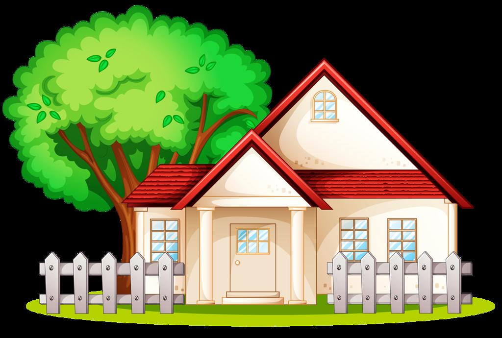 Сельский дом картинка для детей на прозрачном фоне