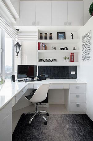 Small Space Ideas In A 33sqm Condo In Marikina Small Home Offices House Home Magazine Home Office Design