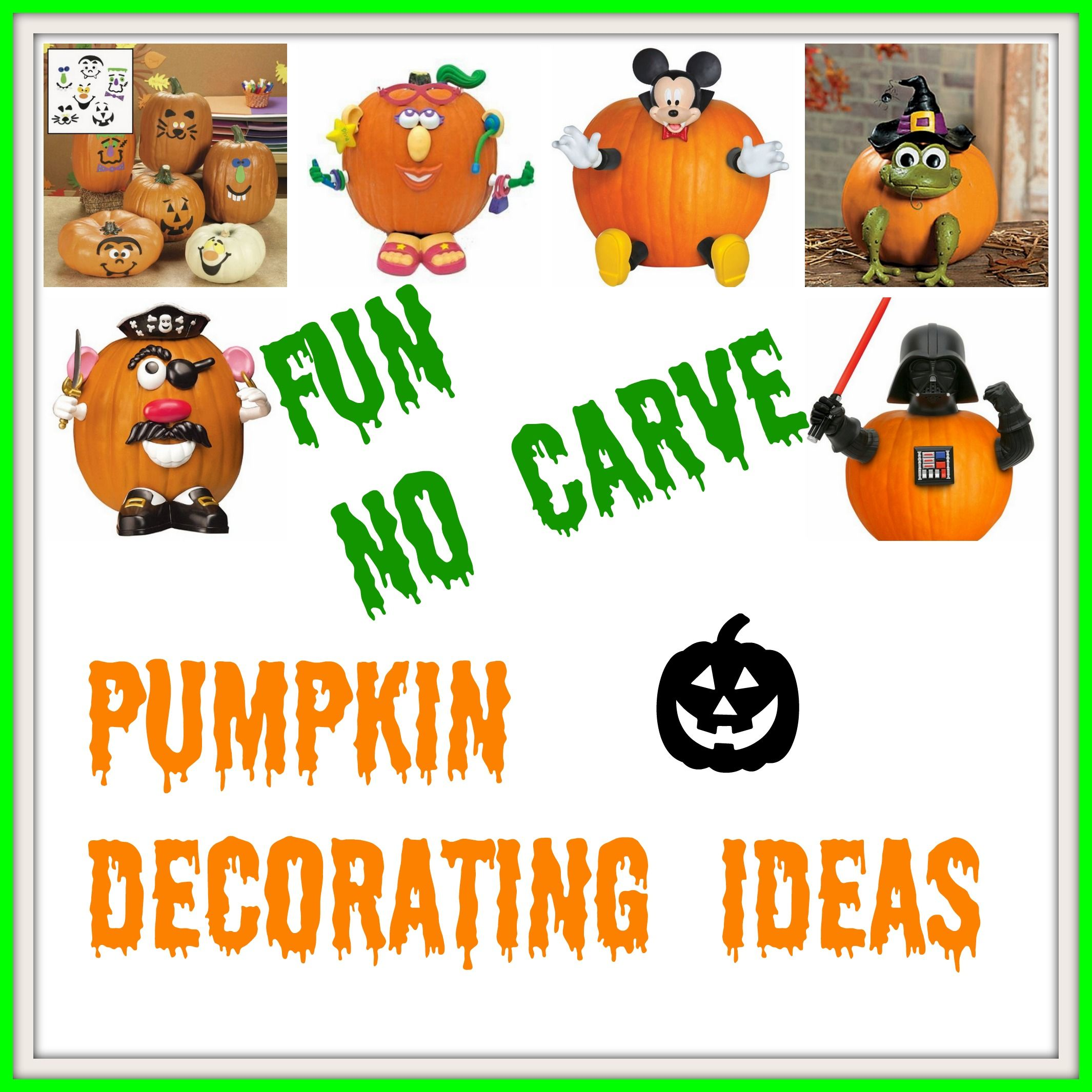 Fun No Carve Pumpkin Decorating Ideas