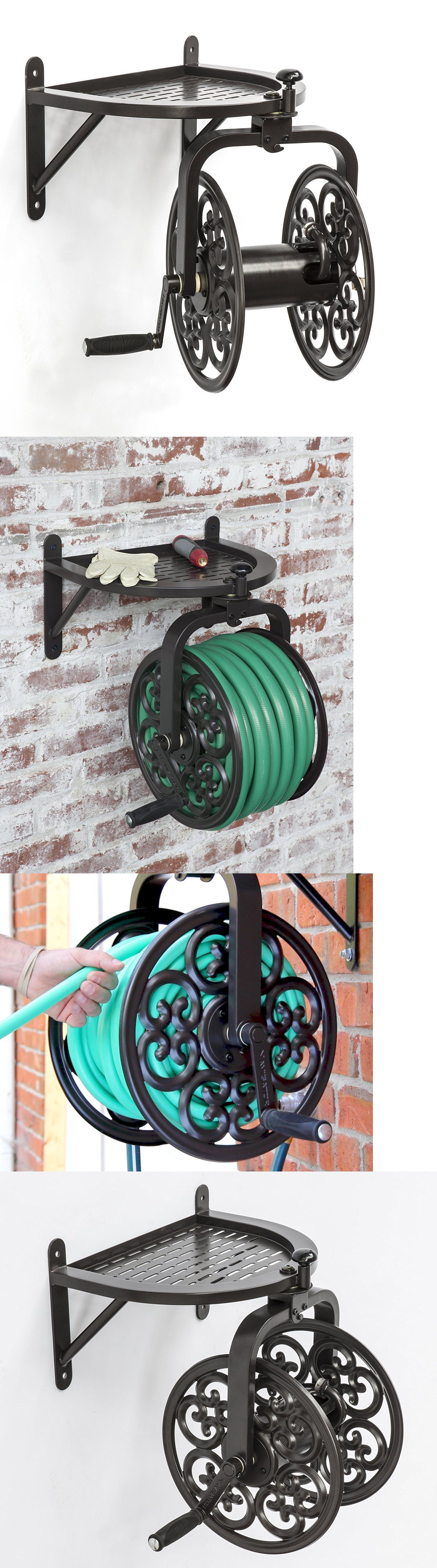 Hose reels and storage 46435 garden water hose reel bronze hose reels and storage 46435 garden water hose reel bronze decorative holder wall mount storage amipublicfo Image collections