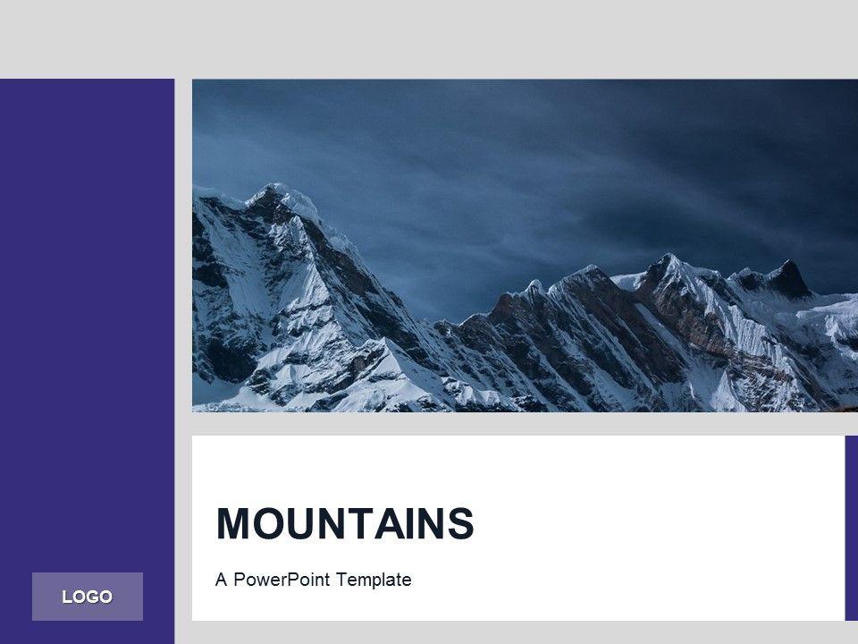 Purple Powerpoint Template Mountains Presentationgo Com Concepts