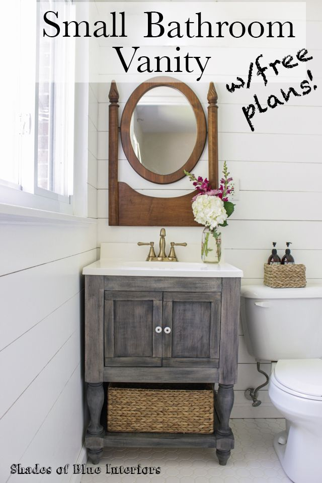 Beautiful Tutorial For How To Build A Small Bathroom Vanity With Turned Legs From  Osborne Wood And A Lower Shelf. Also Featuring Delta Faucet. Free Download  Of Plans.