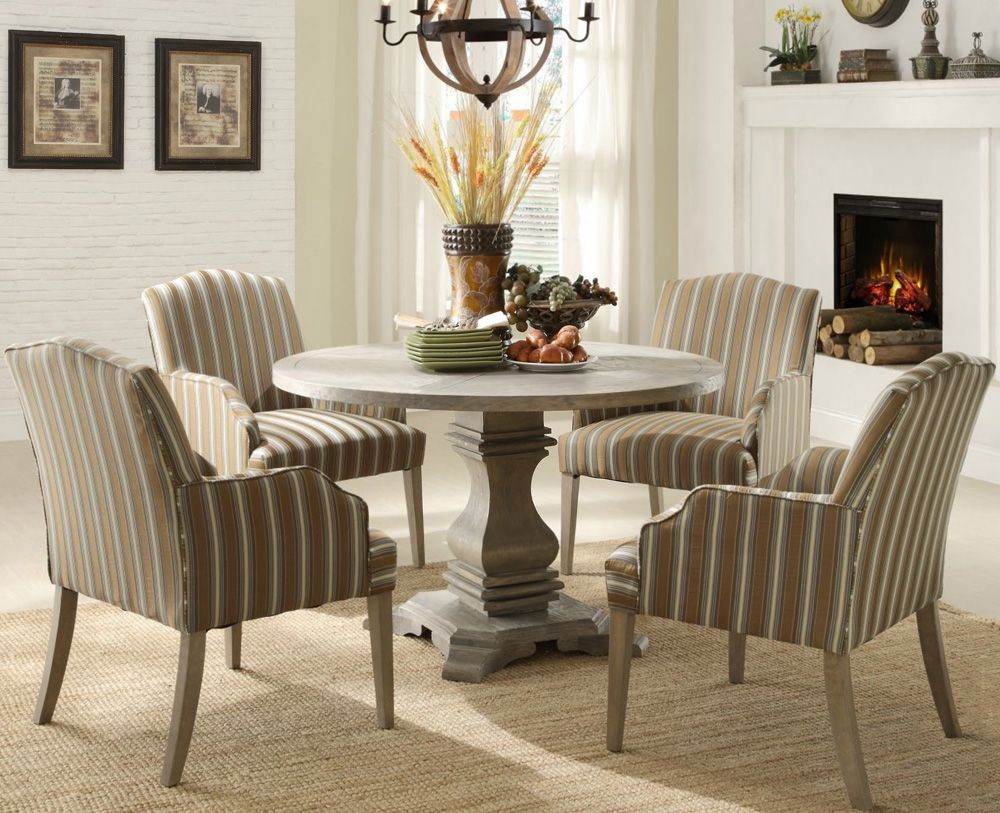 Dining Room Pedestal Table Stunning Homelegance Euro Casual Round Pedestal Dining Table In Rustic Design Inspiration