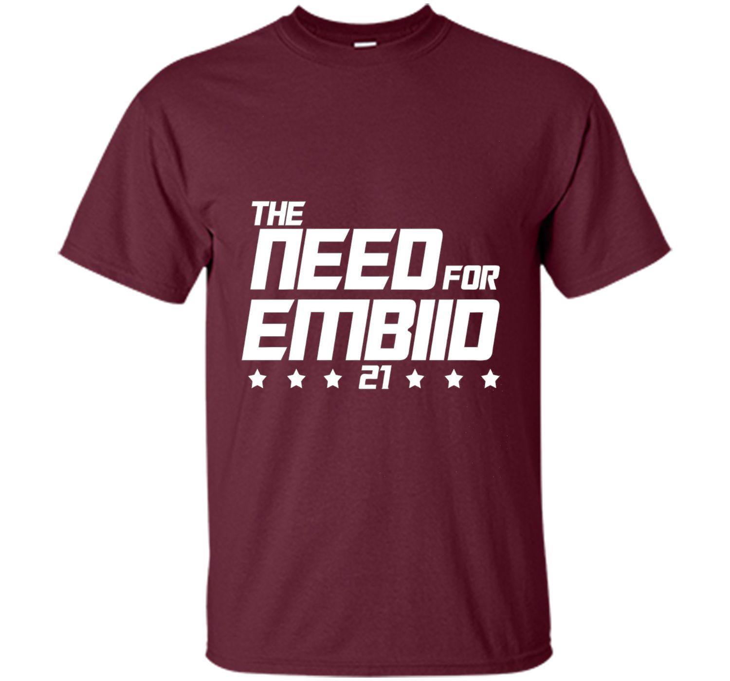 the need for embiid 21 t-shirt