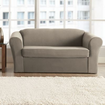 Bon SureFit(TM) U0027Bellau0027 Stretch Velvet Love Seat Slipcover   Sears | Sears