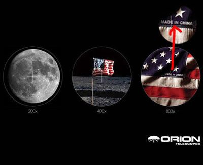 Moon Flag Is Made In China Print Ads Creative Advertising Orion Telescopes