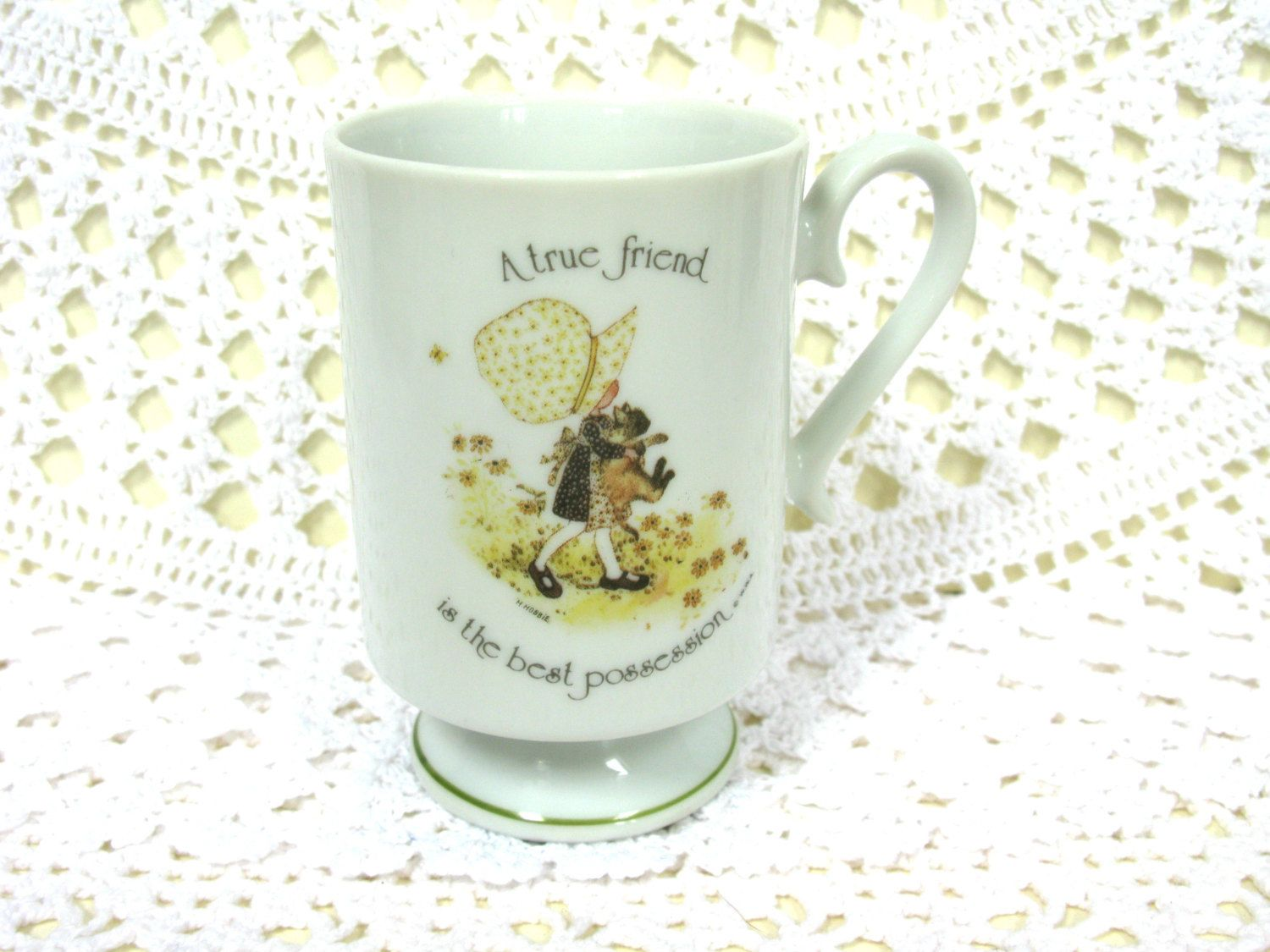 Holly Hobbie Mug - Holly Hobby Mug - Knickerbocker Toys - Celebration Arts - Holly Hobbie Collectable - Vintage Holly Hobbie - 1970s Toys by MissieMooVintageRoom on Etsy