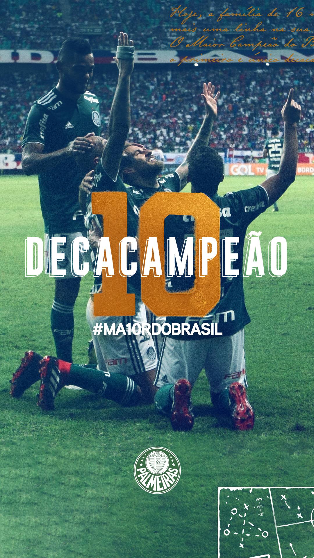 b00470e8b9351 Palmeiras Decampeão Brasileiro!  verdão  wallpaper  palmeiras  sep   fundodetela  deca  campeão  allianzparque  palestra  italia  nacional   maior ...