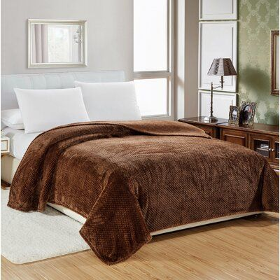 Winston Porter Lightweight and soft contemporary pattern the fabric has hydrophobic properties that repel water breathable and wicks away moisture, keeping you drier and warmer will not stretch, pill, or shrink. Size: 76