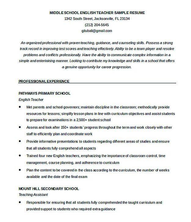 Good Teachers Resume Format , Writing a resume is not that easy - easy resumes