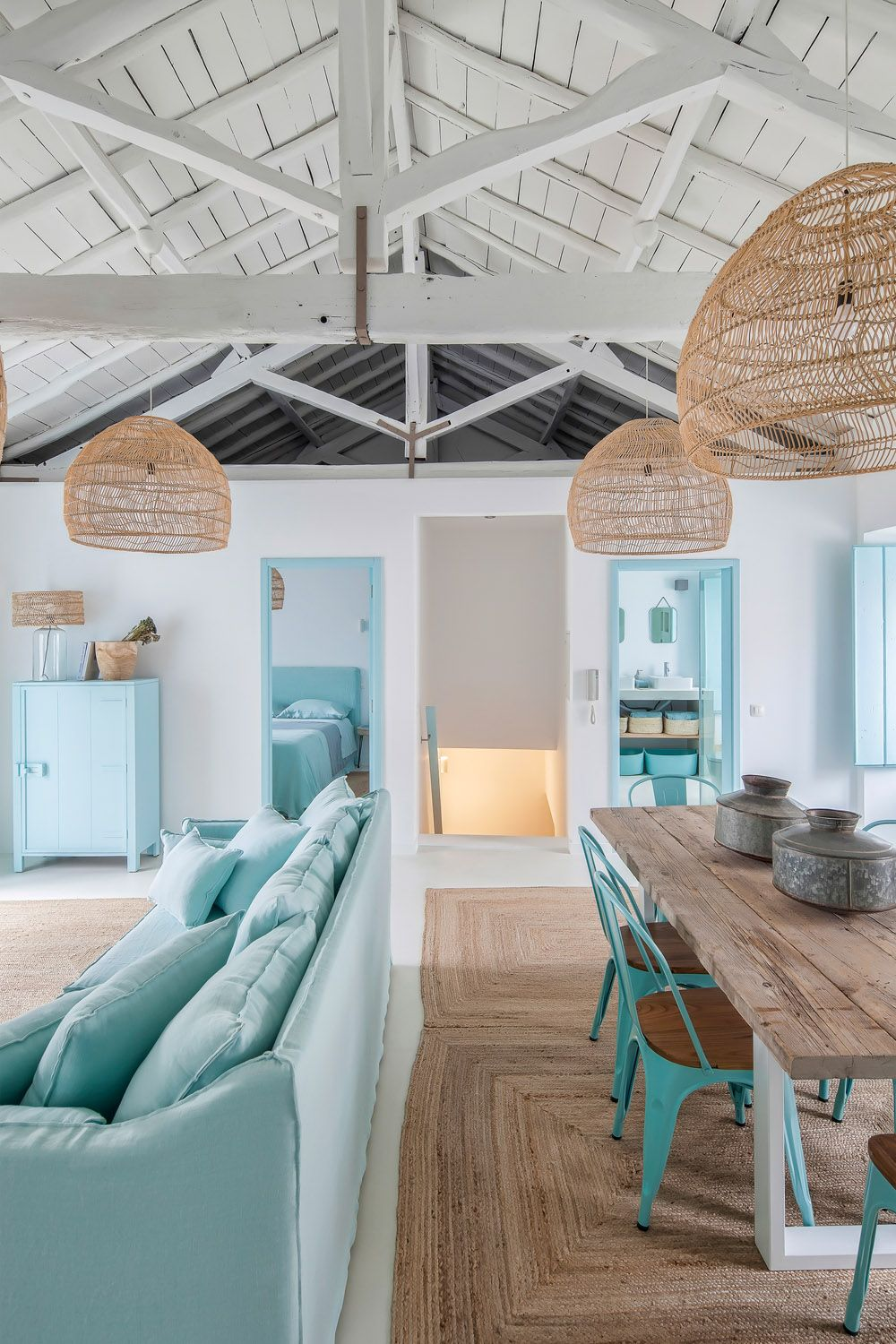 A Home That Is Blue Like The Sea Rue Beach House Interior