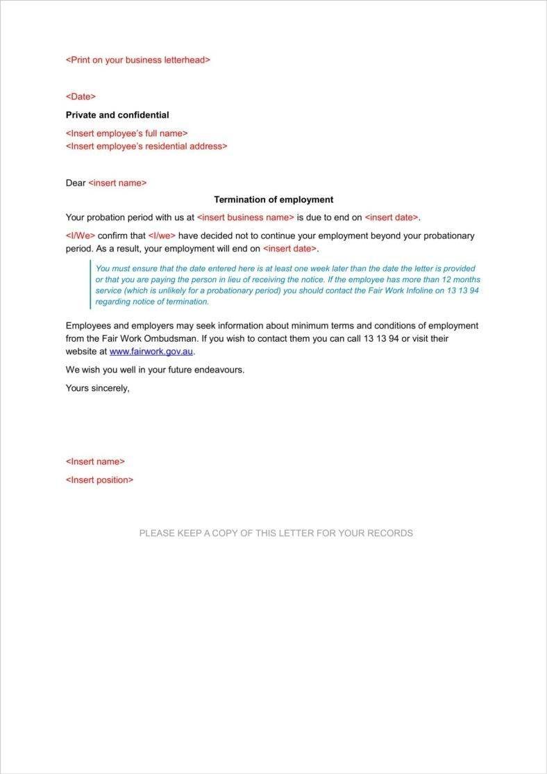 12 Probation Termination Letter Lettering Lettering Download