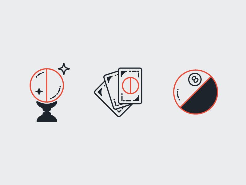 Close Up Magic 8 Ball Logo Design Tarot