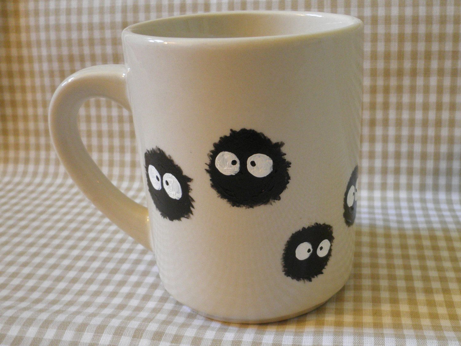 soot sprite hand painted mug via etsy i can. Black Bedroom Furniture Sets. Home Design Ideas