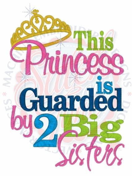 This Princess Is Guarded By 2 Big Sister Kids Or Babies Etsy Big Brother Quotes Brother Quotes Brother Sister Quotes