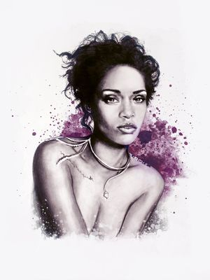 #illustration #fashionillustration #fashionportrait #portraitdrawing #illustrator #fashionillustrator #art #fashionart #fashionblogger #rihanna #celebrityillustration #musicianillustration #purple #wmagazine