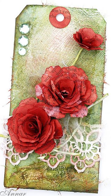 gorgeous flowers on a pretty tag
