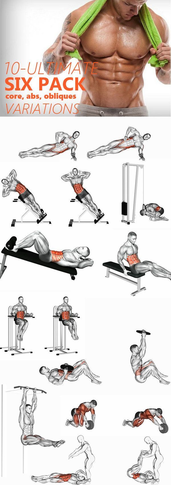 10 Minute Home Bodyweight Abs Crusher Workout #goodcoreexercises