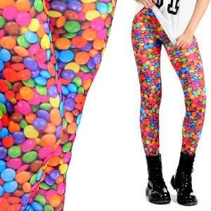 Leginsy Z Nadrukiem Lentylki Women S Fashion Leggings Jeggings Fashion Leggings Fashion