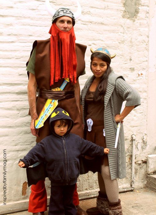 No Sew Viking Family Costumes. Family Halloween CostumesHandmade Halloween CostumesDiy ...  sc 1 st  Pinterest & No Sew Viking Family Costumes | Vikings Costumes and Family halloween