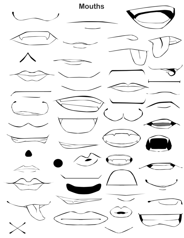 Mouth Page By Nireleetsac On Deviantart Anime Mouth Drawing Smile Drawing Anime Drawings Tutorials