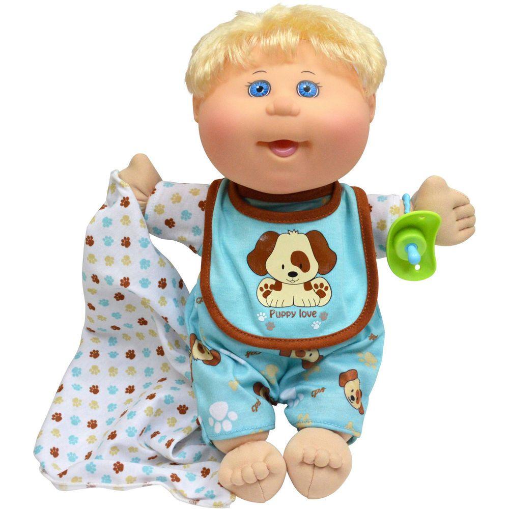 Cabbage Patch Kids Dog Jumper Nap Time Baby Boy Blonde Hair Blue Eyes Nib Cabbage Patch Babies Cabbage Patch Kids Cabbage Patch Kids Boy