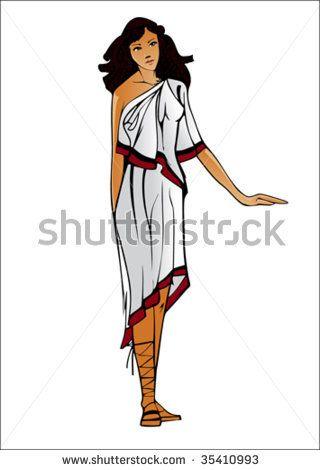 Clip Art Female Toga Costume – Clipart Download